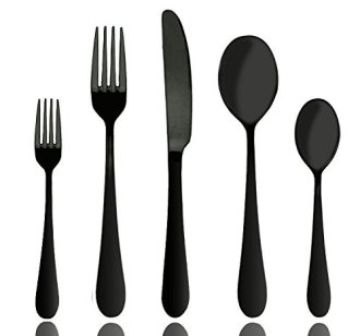black-flatware